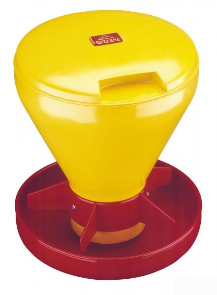 Ferkelschale Mini Hopper Pan mit Deckel, Futterschale für Trockenfutter