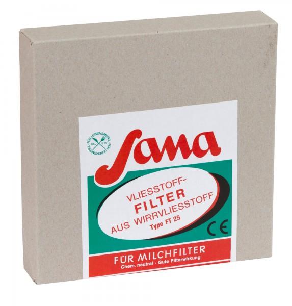 Kannenvliesfilter SANA, 200 Blatt im Karton, in verschiedenen Größen
