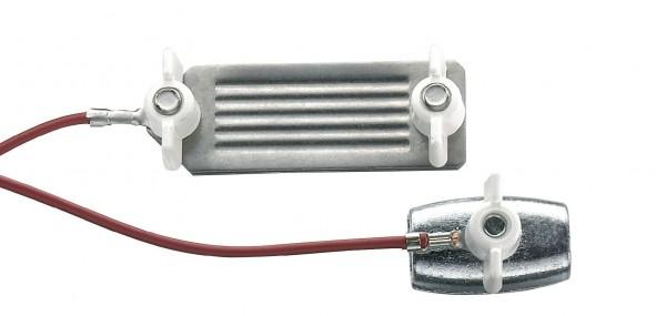 Seil-/ Bandkupplung, Kombi-Kupplung für Weidezaunseil und Weidezaunband, Verbinder mit 80 cm Kabel, Edelstahl