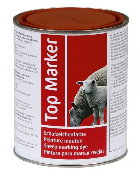 Schafzeichenfarbe TopMarker, rote Farbe zum Stempeln, schnell trocknend und auswaschbar