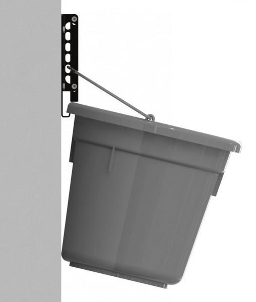 Sicherheitswandhalter FlatBack, starker Eimerhalter aus Metall für hohe Belastungen mit Sicherheitsverschluss