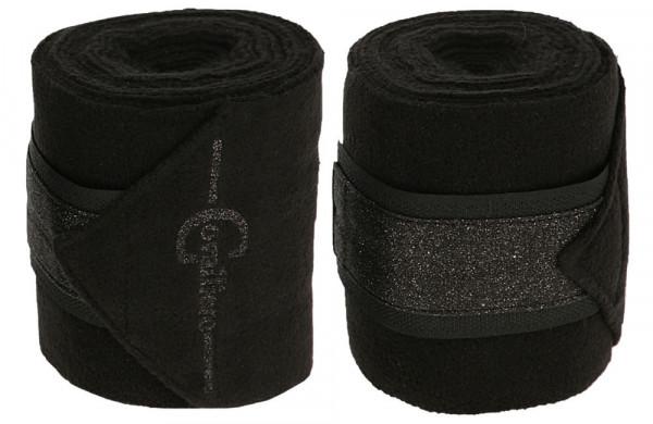 Fleecebandage Empara mit dezenten Glitzerapplikationen, black