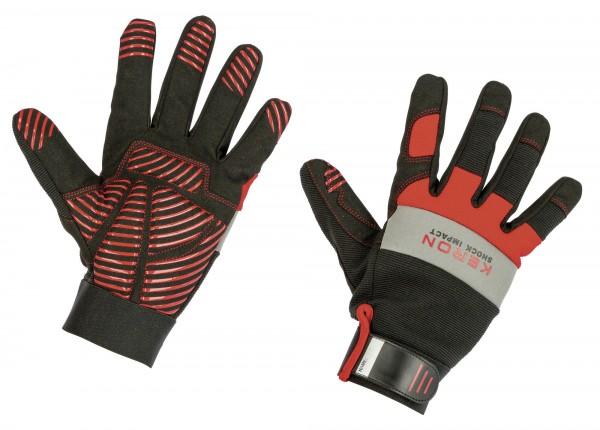 Handschuh der die Hände gegen Stoß- und Aufprallverletzungen schütz
