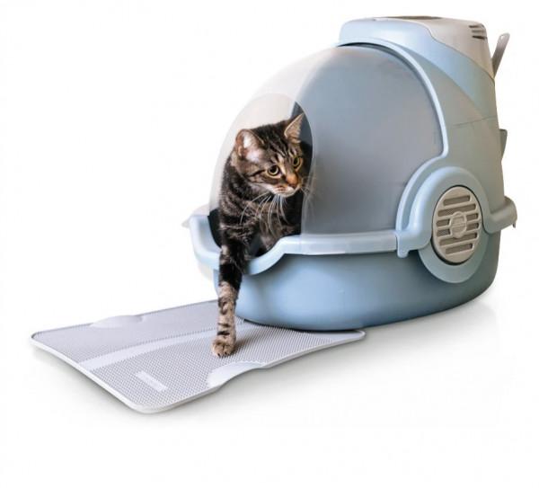 Oster Katzentoilette geruchsneutralisierend mit antibakterieller Toiletten-Vorlage