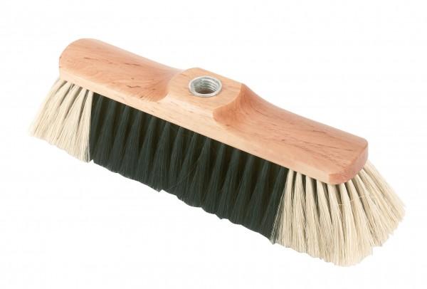 Besen aus Rosshaarmischung, 28 cm breit mit Holzrücken