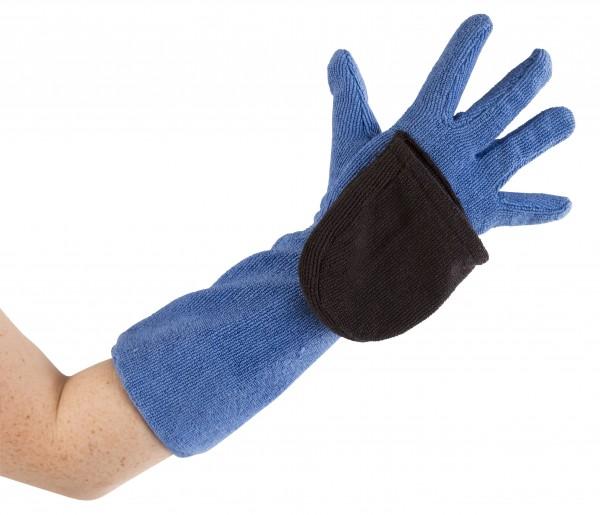 Der Finger-Handschuh ist ideal für enge und schwer zugängliche Stellen