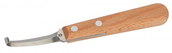 Klauenmesser Profi, beidseitiges Messer mit Edelstahlklinge für Schaf- und Ziegenklauen