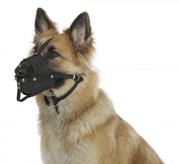 Hundemaulkorb aus robustem Echtleder, in 4 Größen