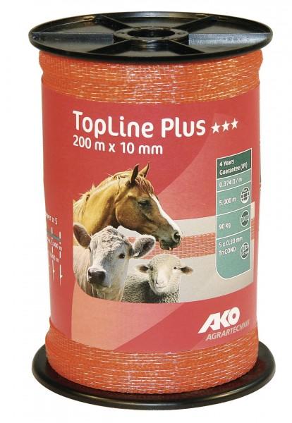 Weidezaunband in der Farbe orange, 5 Leiter, 0,30 mm TriCOND, Bruchlast 90 kg, bis 5.000 m Zaunlänge
