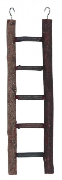 Käfigleiter aus Naturholz mit Aufhängehaken, 3 Stück