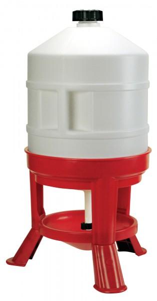 Geflügeltränke für 30 Liter Inhalt, stabile Kunststofftränke mit breiten Standfüßen, Tränke für Geflügel in Bodenhaltung