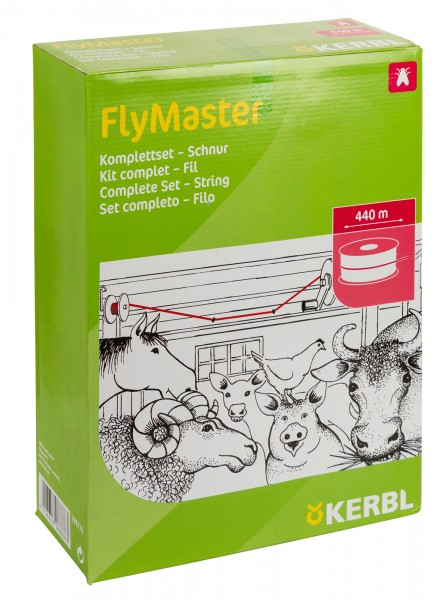 Stallfliegenfänger FlyMaster Schnur, die umweltfreundliche Fliegenbekämpfung im Stall