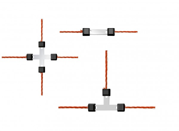 Weidezaunnetz-Reparaturset Litzclip® zum reparieren von elektrischen Weidezaunnetzen