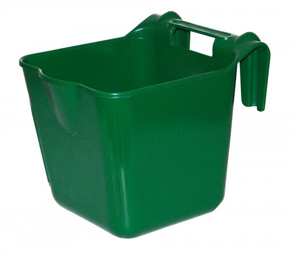 Futterbehälter zum Einhängen mit Tragegriff, aus festem Kunststoff, 13 Liter Inhalt