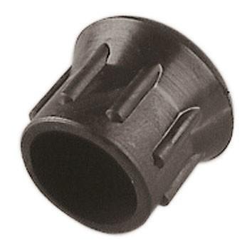 Ersatzkappe aus schwarzem Kunststoff passend für alle Schlagfesseln