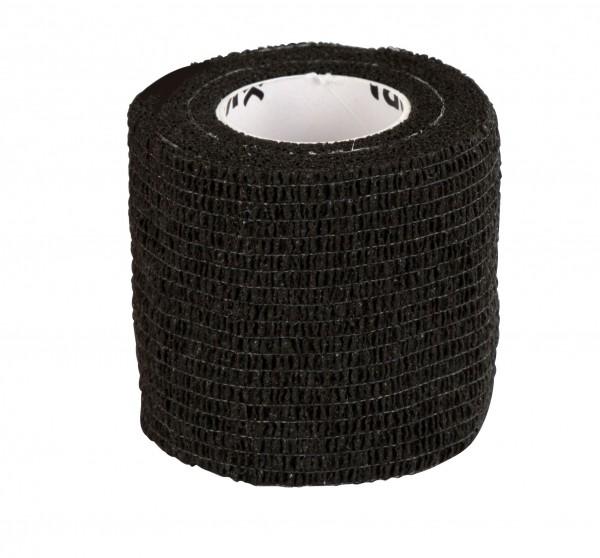 Selbsthaftende Bandage EquiLastic schwarz, 5 cm