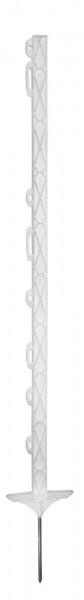 Kunststoffpfahl Titan mit Doppeltritt, verzinkter Bodennagel, Weidezaunstab geeignet auch für Minustemperaturen