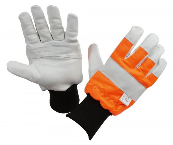 Motorsägenhandschuh Logger für Land- und Forstwirtschaft, Handschuh mit engem Strickbund zum Schutz gegen Schmutz