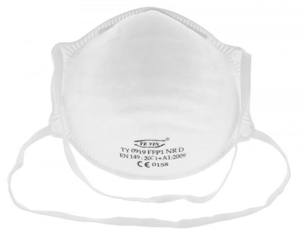 Feinstaubmaske FFP1 NR D Atemschutzmaske gegen Staub, Pollen, Rost, Ziegelstaub, wässrige Aerosole