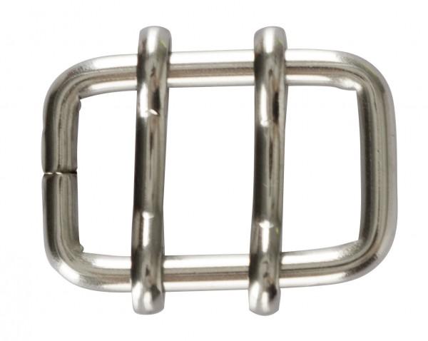 Bandverbinder aus Edelstahl für Bänder bis 13 mm, zum Verbinden von elektrischen Weidezaunbändern, Schnalle mit 2 Stegen