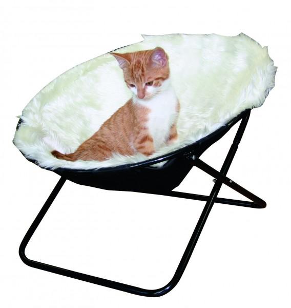 Liege- und Schlafplatz für Katzen mit abnehmbarem Kissen, 100 % Polyester, waschbar