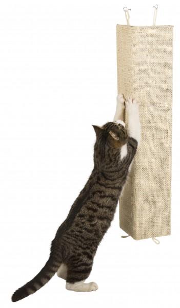 Kratzbrett zum Befestigen an der Wand oder an Zimmerecken, mit fleecebezogener Rückseite