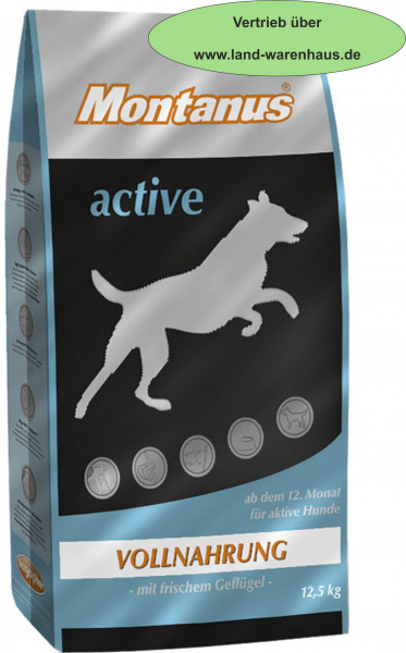 Montanus aktiv, Hundefutter für den besonderen Anspruch, 12,5 kg Beutel