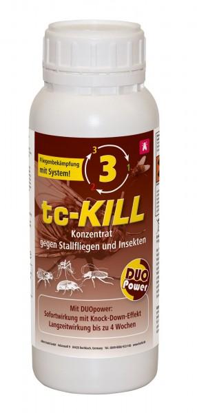 Stallfliegenkonzentrat in der Stufe 3, tc-Kill* mit Sofortwirkung und Langzeitschutz
