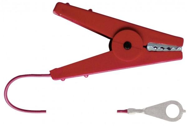Zaunanschlusskabel mit robuster Klemme, 100 cm Kabellänge und M8-Oese