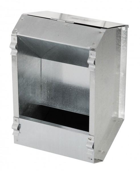 Futterautomat für Kaninchen, verzinkter Futterspender, Futterbox mit einem Fressplatz