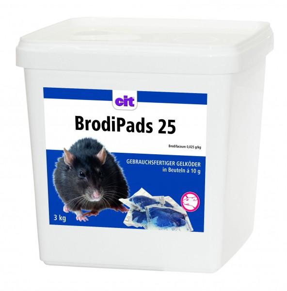 BrodiPads, gebrauchsfertiger Ratten- und Mäuseköder in Pastenform,