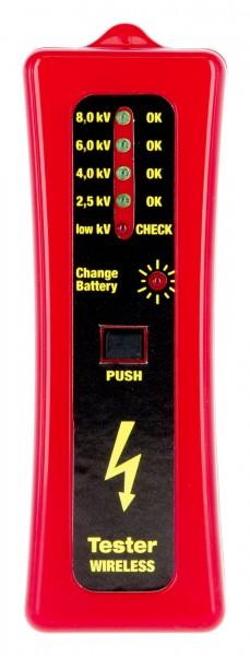 Zaunprüfer ohne Erdspieß, Prüfgerät für Elektrozäune zeigt die Spannung in 4 Stufen an