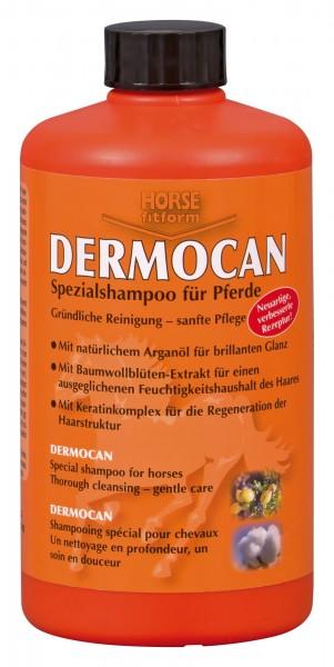 Pferdeshampoo löst Schmutz und Schweiß und pflegt Fell und Haut