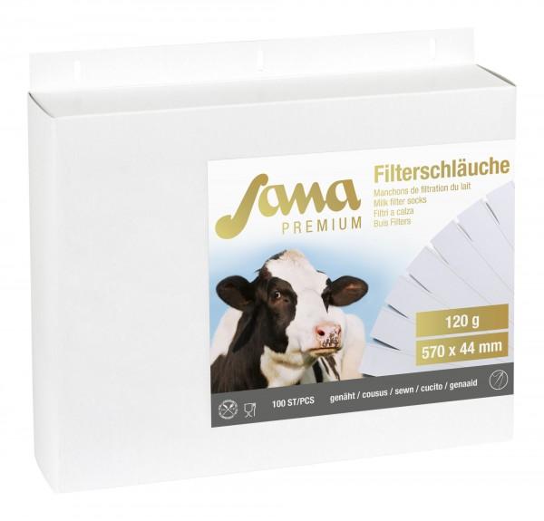 Sana Premium Milchfilter 120 g für Melkroboter, 100 Stück