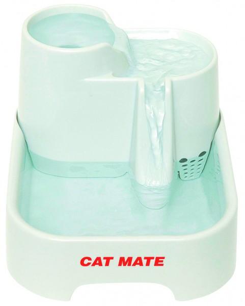 Trinkstationen auf mehreren Trinkhöhen, denn Katzen lieben es bewegtes Wasser zu trinken