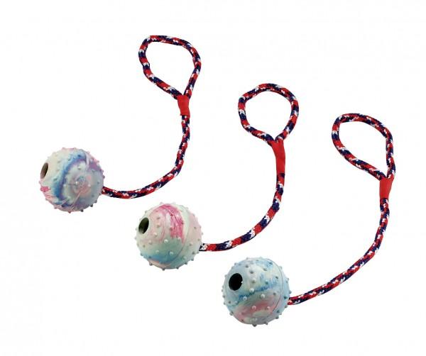 Ball aus Vollgummi zum Knautschen und Reinbeißen, 3 Stück