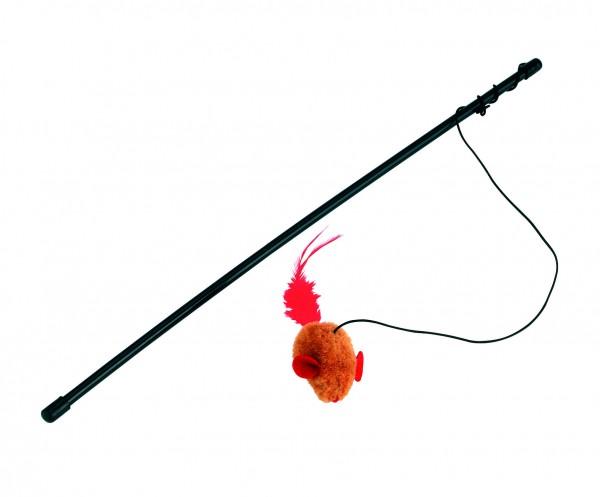 Katzenspielangel Maus, für intensive Beschäftigung mit der Katze, 48 cm lang