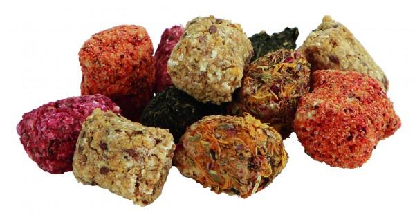 Gourmethäppchen, natürliche, erstklassige und hochwertige Snacks aus Kräutern, Getreide und Gemüse