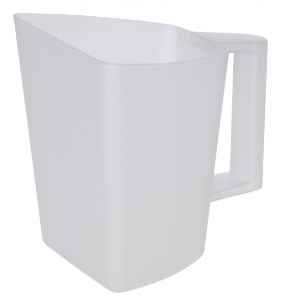 Futterschaufel in praktischer Becherform, Messbecher mit eingeprägter Skala, 2 Liter Volumen