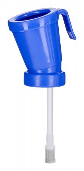 Dippbecher mit speziellem schaumbildendem Siebeinsatz im Behälter