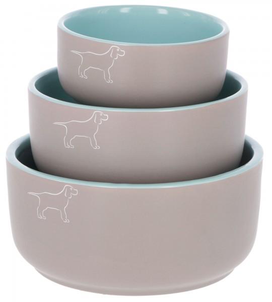 Keramiknäpfe mit schönem Hundemotiv in 3 Größen