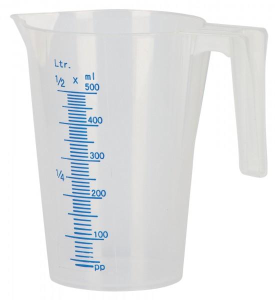 Messbecher aus Kunststoff mit Ausgußschnabel, 500 ml Inhalt