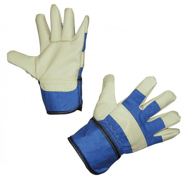 Kinderhandschuh Junior, Arbeitshandschuhe in der Farbe blau speziell für kleine Kinderhände