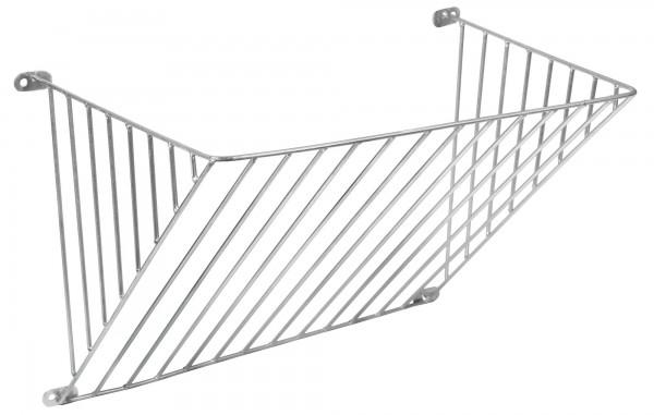 Einfache Futterraufe in verzinkter Ausführung zur Wandbefestigung mit einem Stababstand von 4 cm