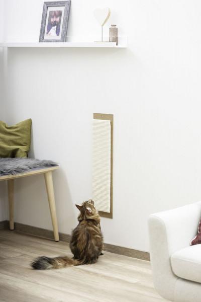hübsches Kratzbrett Maxi mit sehr großer Sisalfläche, Kratzbrett in schlichtem Design für alle Einrichtungsstile