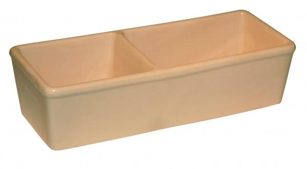 Ecknapf aus Keramik für Nager mit 2 Kammern, 350 ml und 450 ml Inhalt