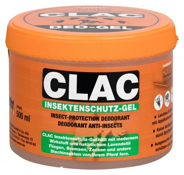 CLAC Fliegenschutz-Gel*, mit einer Kombination aus natürlichem Lavandinöl und ausgesuchten Pflegekomponenten