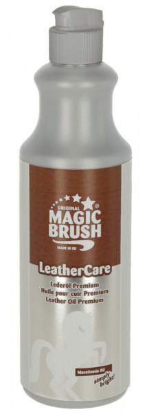 MagicBrush Lederöl Premium das richtige Pflegemittel für Zaumzeug, Sattel, Stiefel und alle Glattlederwaren