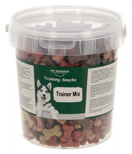 Pet Rewards Trainer Mix, Hundesnack aus Getreide, mit Huhn, Lamm, Pansen und Lachs, 500 g