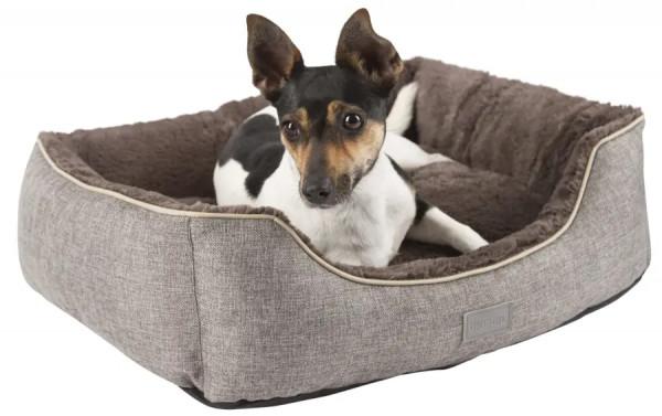 Kuschelbett Samuel in dunkelgrau/braun für kleine Hunde und Katzen geeignet